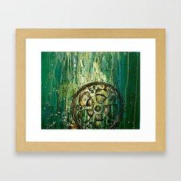 Green Bike Gears Framed Art Print