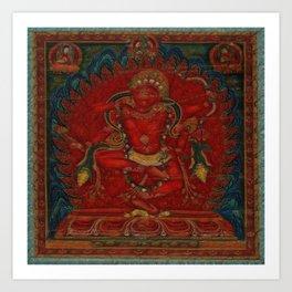 Kurukulla - Tibetan Buddhism Art Print