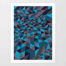 Triangulation (Inverted) Art Print