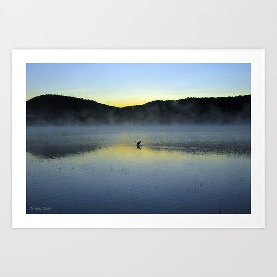 Perfect Landing (Sunrise, Lake George) Art Print
