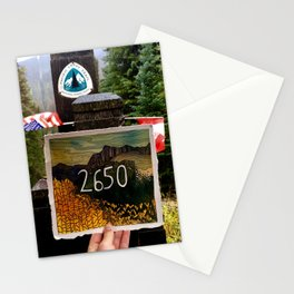 2650 Miles on The Pacific Crest Trail Stationery Cards