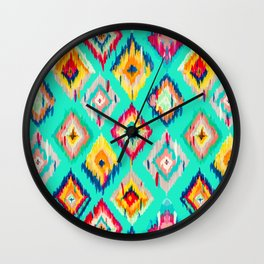Bohemian Ikat Painting Wall Clock