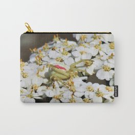 White Flowers Crab Spider Carry-All Pouch