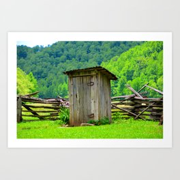 Country outhouse Art Print