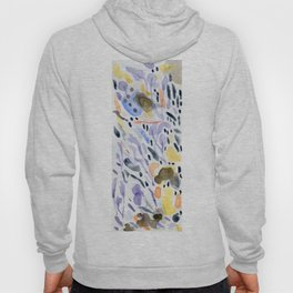 Yellows and purples in watercolor Hoody