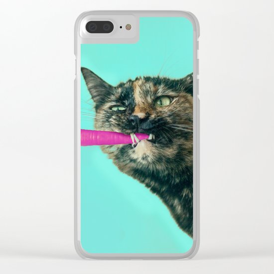 The Pink Carrot Clear iPhone Case