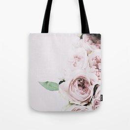 Flowers, Roses, Leaves, Plant, Green, Scandinavian, Minimal, Modern, Wall art Tote Bag