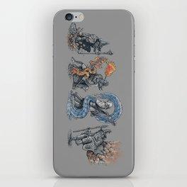 earth - fire - water - (bad) air iPhone Skin