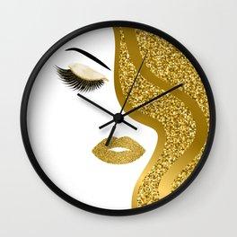 Gold gitte woman Wall Clock