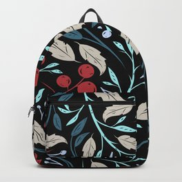 Holiday Holly and Mistletoe Pattern Backpack