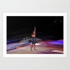 Glee Concert: Lea Michele Art Print
