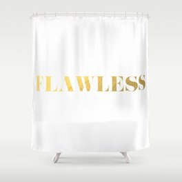 Flawless (Gold) Shower Curtain