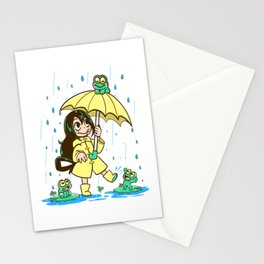 Best Frog Girl Stationery Cards