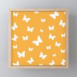 Butterflies - Fresh Orange Framed Mini Art Print
