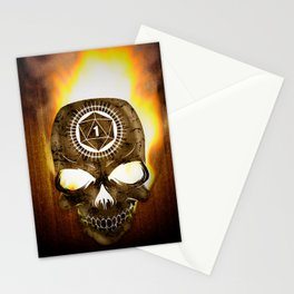 D20 Death Comes for Us All Stationery Cards