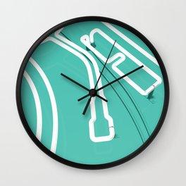 Neon Turntable 3 - 3D Art Wall Clock