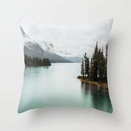 Landscape Photography Maligne Lake Throw Pillow
