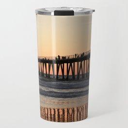 Hermosa Beach Pier Sunset Travel Mug