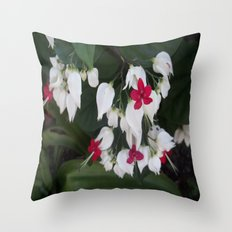 My Aunt's Flowers 3 Throw Pillow