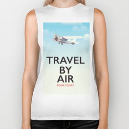 Travel By Air travel poster Biker Tank
