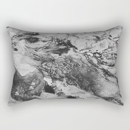 White: Paint Rectangular Pillow