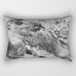 White: Paint Rectangular Pillow