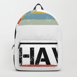 Retro Vintage Stripes Hawaii Gift & Souvenir Print Backpack