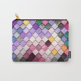 Lavender Pastel Tile Mosaic Carry-All Pouch
