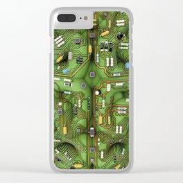 Circuit brain Clear iPhone Case