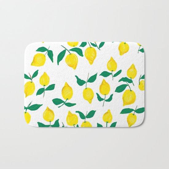 Lemons design 2 Bath Mat
