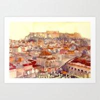 takmaj Art Prints featuring Athens by takmaj