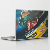 senna Laptop & iPad Skins featuring Ayrton Senna by Sprite Ideas