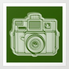 I Still Shoot Film Holga Logo - Reversed Green Art Print