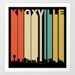 Vintage 1970's Style Knoxville Tennessee Skyline Art Print