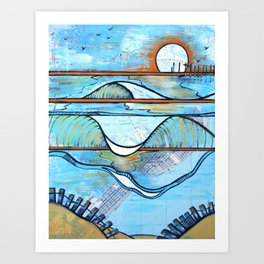 South End Sunset - New Jersey Art Print