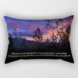 Serenity Prayer Spring Sunrise Rectangular Pillow