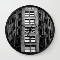 building Wall Clocks featuring Building by Conor O'Mara