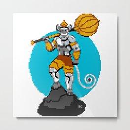 Hanuman Pixel Art Metal Print