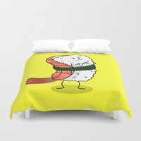 nori Duvet Covers featuring Foods Of The World: Japan by Studio14