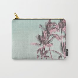 Tropical Palm Trees In Surreal Pink Carry-All Pouch