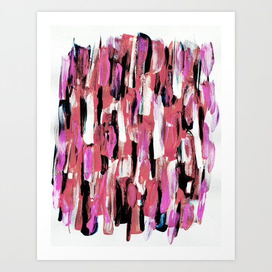 Colourful Feathers Art Print