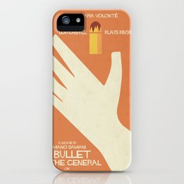 A Bullet for the General, Movie with Klaus Kinski, Gian Maria Volonté. Spaghetti Western Poster iPhone Case