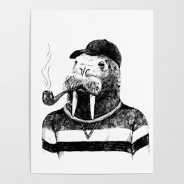 Walrus with a Pipe Poster