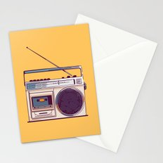 Retro Radio Boombox from 80s Stationery Cards