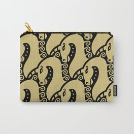 Unicorn Pattern Gold & Black Carry-All Pouch