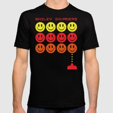 Smile Invaders Gaming Quote Black MEDIUM Mens Fitted Tee