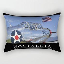 Nostalgia: Inspirational Quote and Motivational Poster Rectangular Pillow