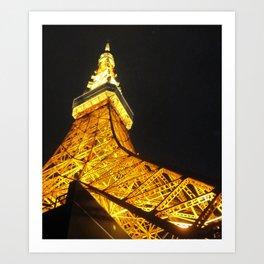 Tokyo Tower by Night Art Print