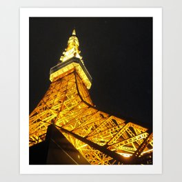 Tokyo Tower by Night Art Print