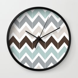 Seaside Chevron Wall Clock